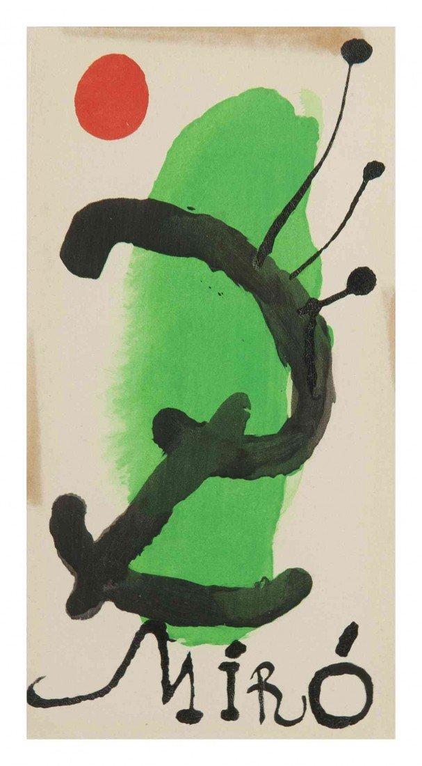 15: Joan Miro, (Spanish, 1893-1983), Sans titre