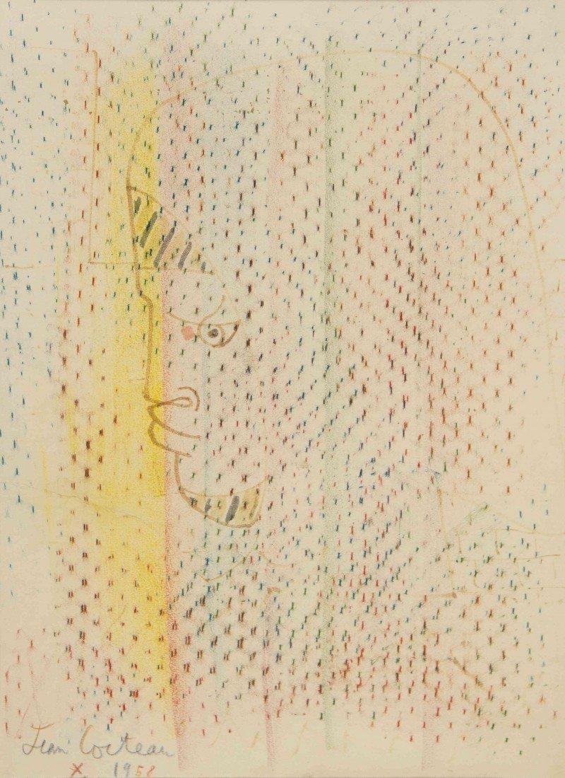 16: Jean Cocteau, (French, 1889-1963), Tete d'Homme, 19