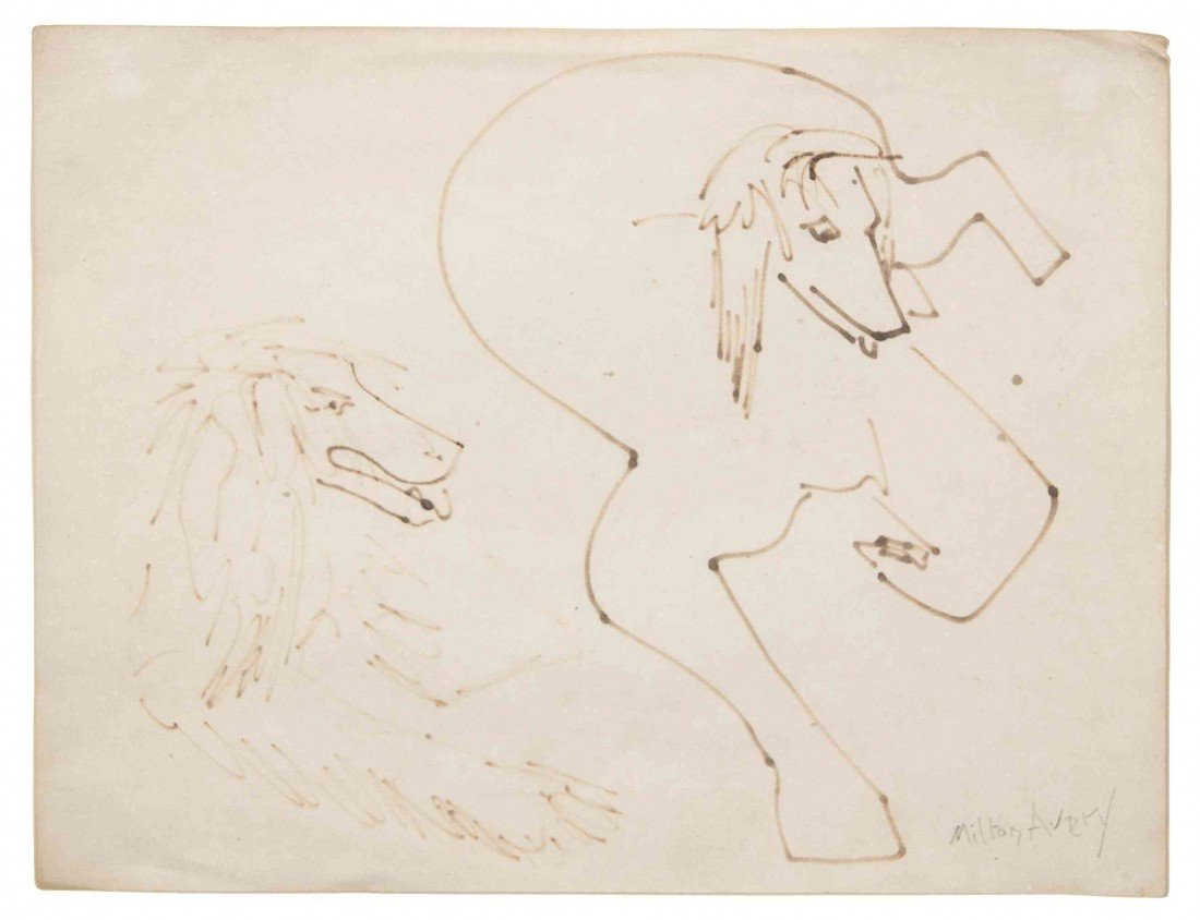17: Milton Avery, (American, 1885-1965), Two Afghans