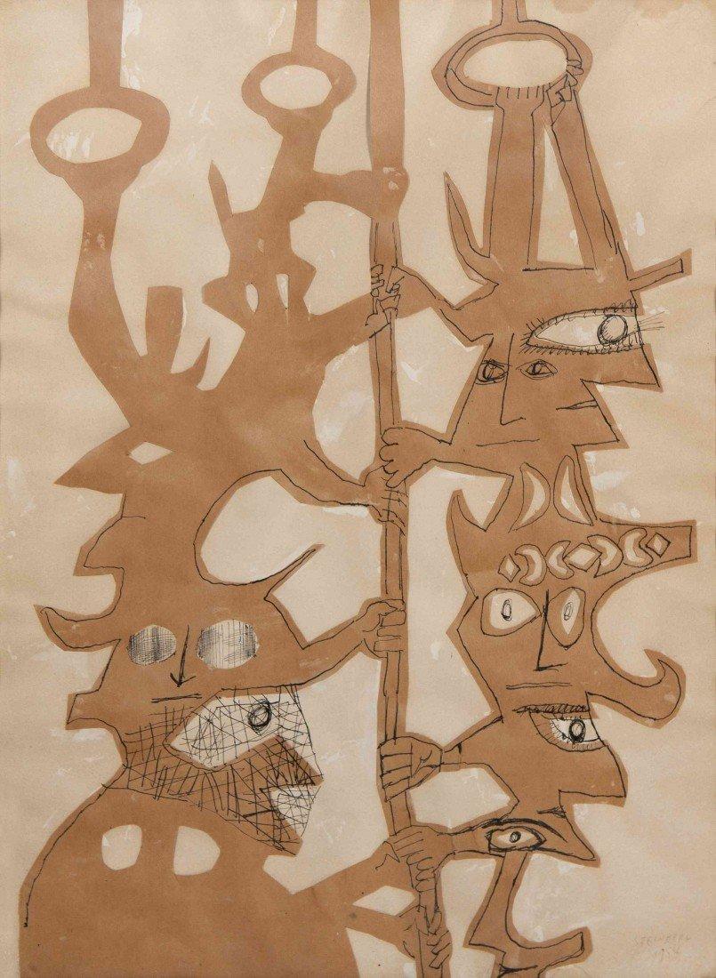 18: Saul Steinberg, (American, 1914-1999), Untitled, 19