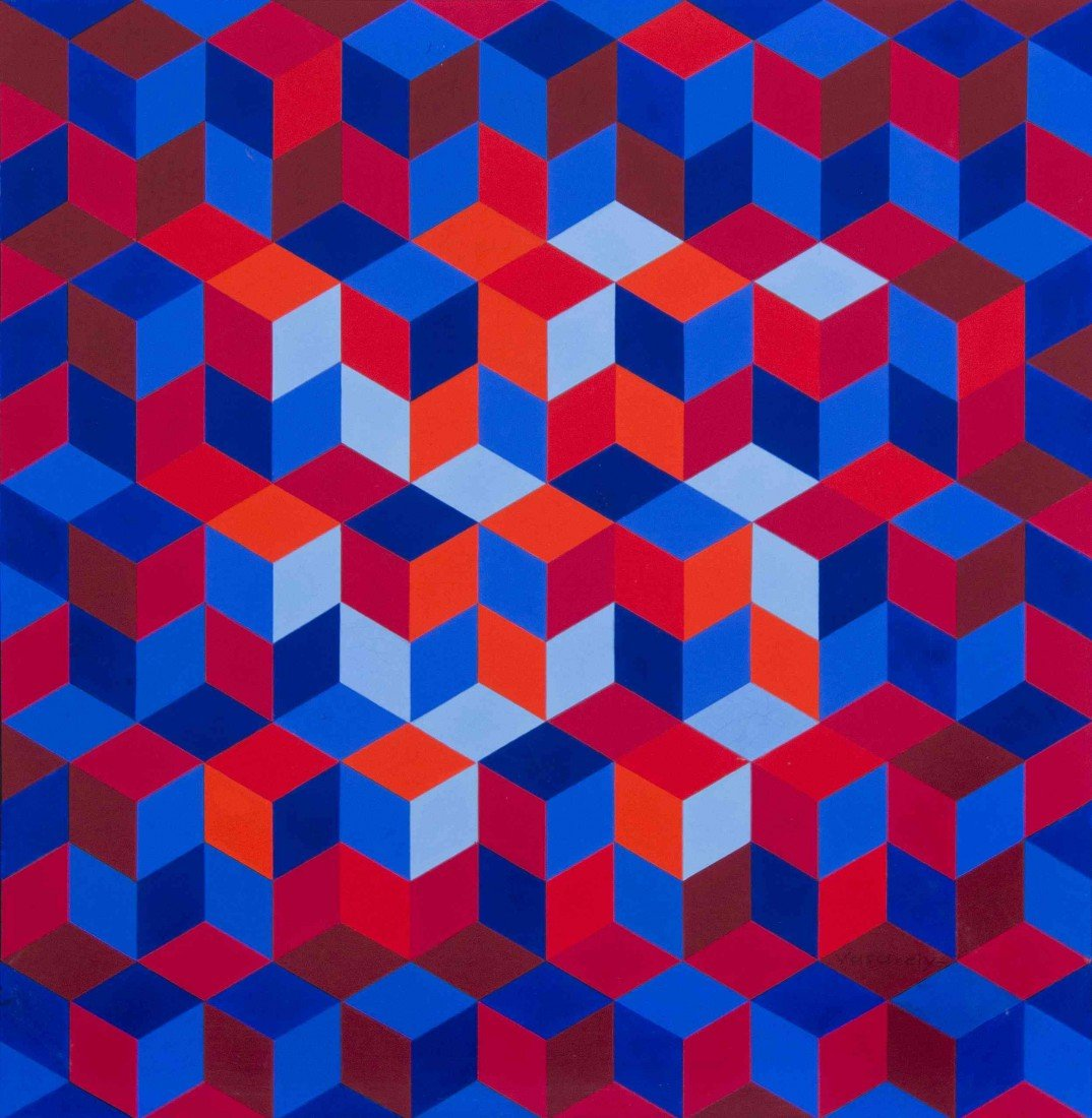46: Victor Vasarely, (French/Hungarian, 1908-1997), Pho