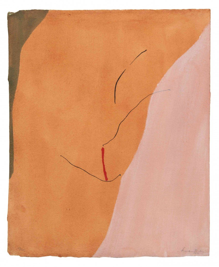 1007: Helen Frankenthaler, (American, b. 1928), Sanguin