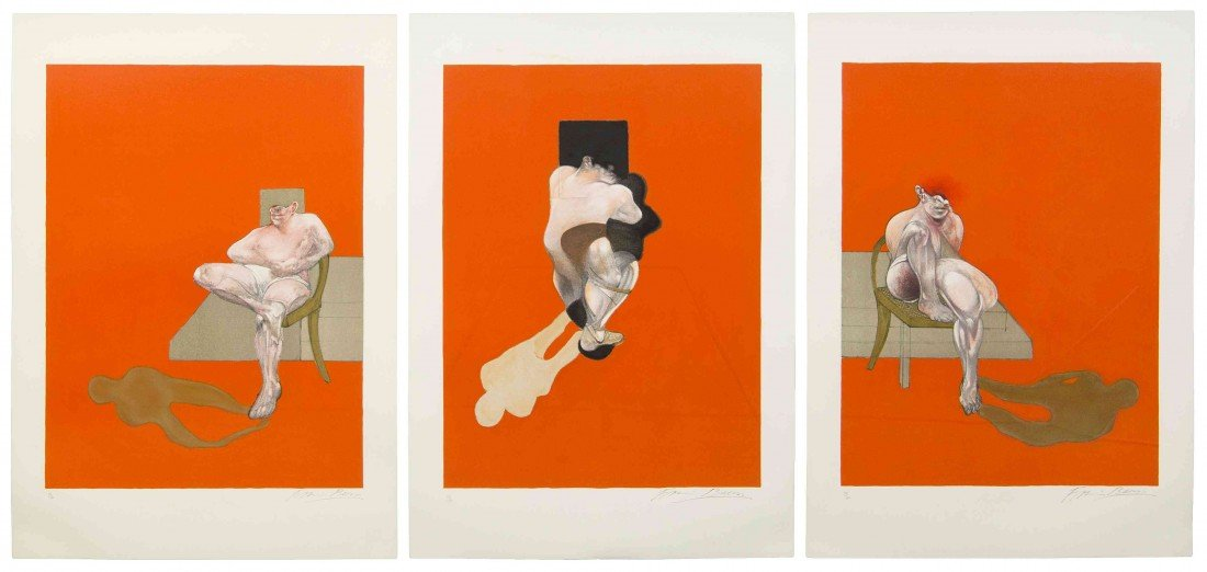 1013: Francis Bacon, (Irish, 1909-1992), Triptych, 1983