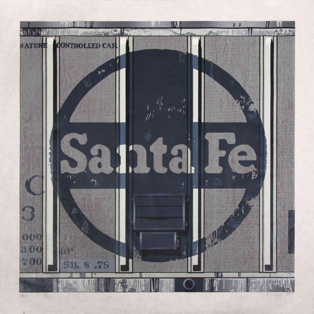 1017: Robert Cottingham, (American, b. 1935), Santa Fe