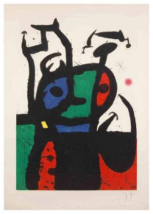1129: Joan Miro, (Spanish, 1893-1983), Le Matador, 1969