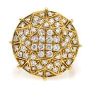 170: An 18 Karat Yellow Gold and Diamond Cluster Ring,