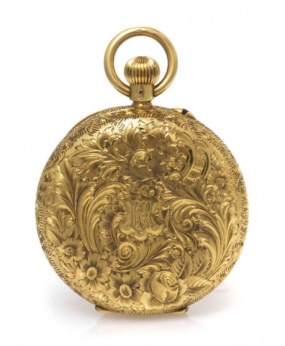 426: An 18 Karat Yellow Gold Pocket Watch, Peerless, 30
