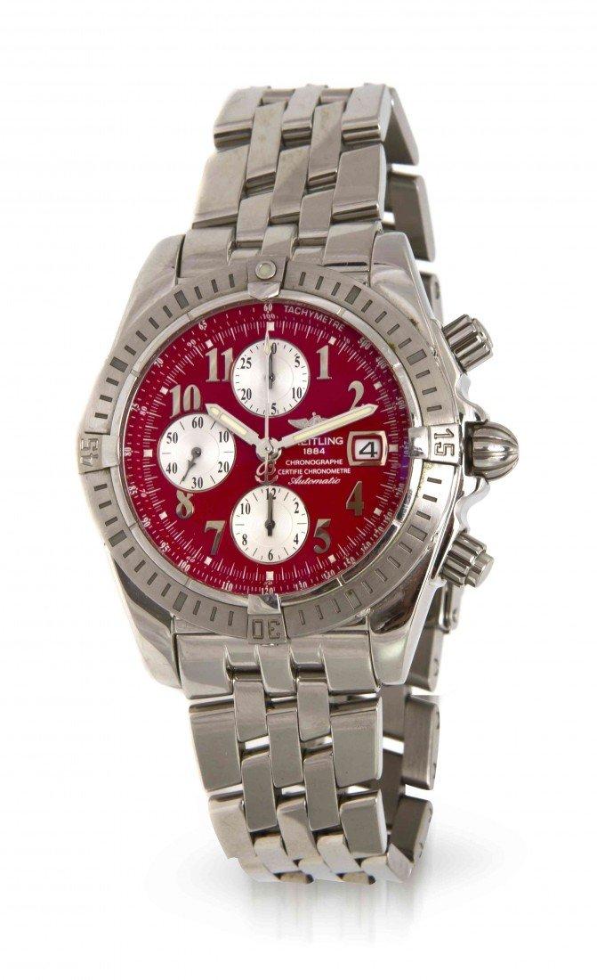 443: A Stainless Steel Chronomat Evolution Wristwatch,