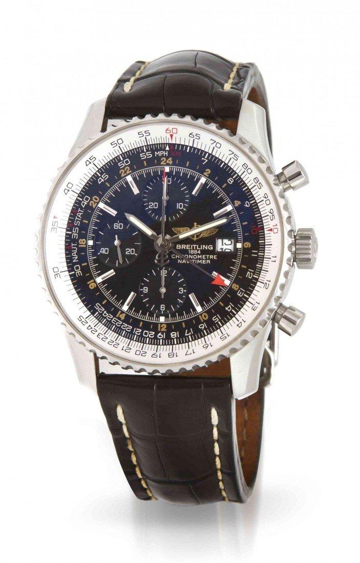 444: A Stainless Steel Navitimer Wristwatch, Breitling,