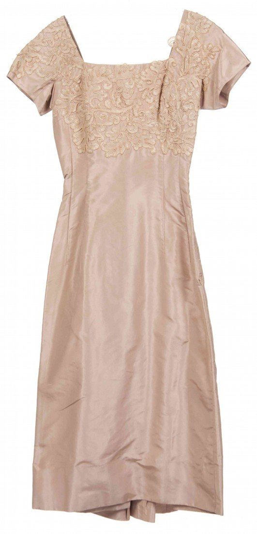 4: A Ceil Chapman Mauve Silk Cocktail Dress,