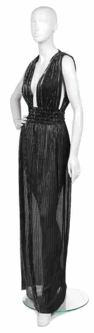 361: A Joan Vass Black and Lurex Evening Dress,