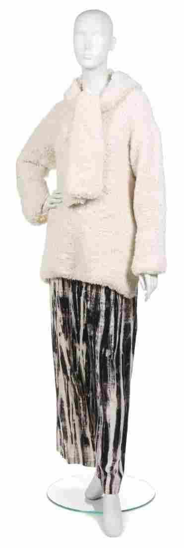 367: A Joan Vass Cream Knitted Tunic Sweater,