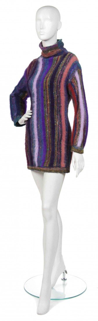 370: A Joan Vass Multicolor Knitted Wool Tunic.