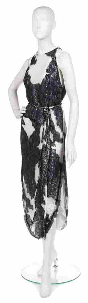 371: A Joan Vass Black and White Cellophane Dress,