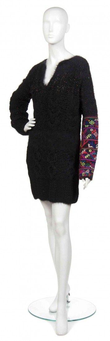A Joan Vass Black Tunic with a Peruvian Sleeve.