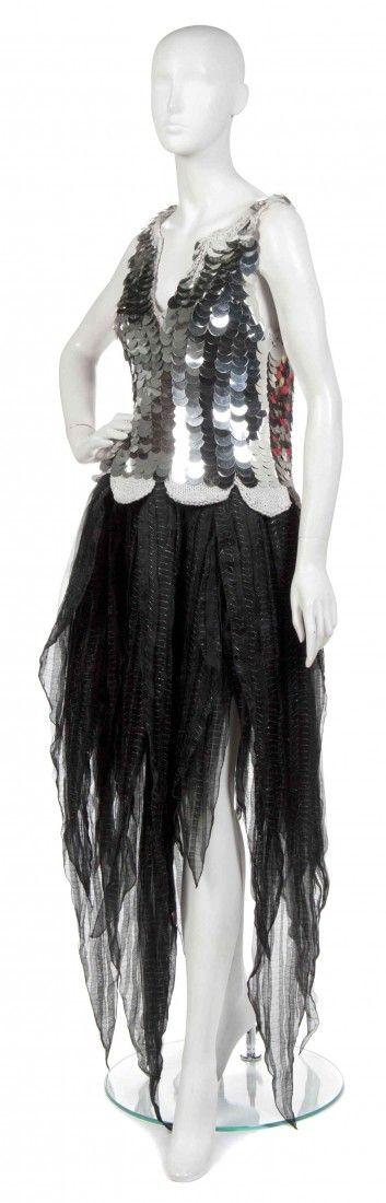 A Joan Vass Black Silk Skirt,