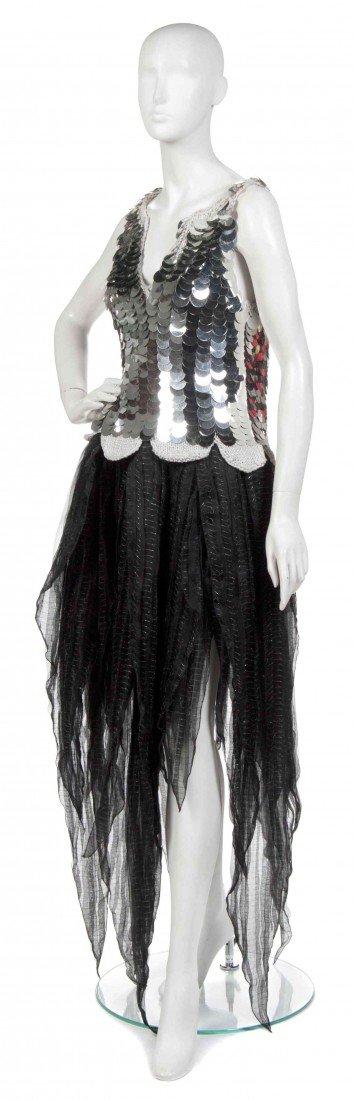 385: A Joan Vass Black Silk Skirt,