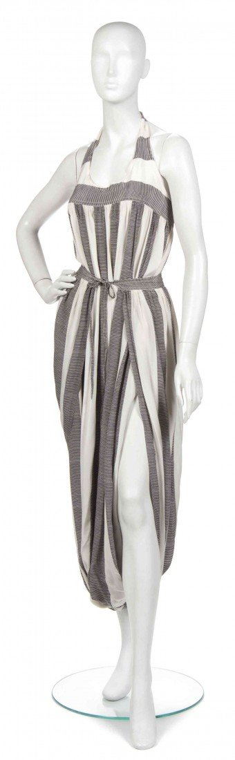399: A Joan Vass Black and White Striped Jumper,