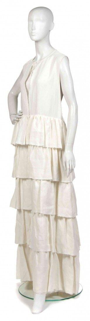 403: A Joan Vass Cream Linen Dress Jacket,