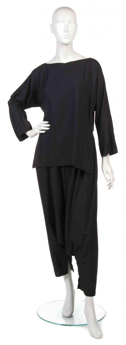 407: A Pair of Joan Vass Black Bloomer Pants,