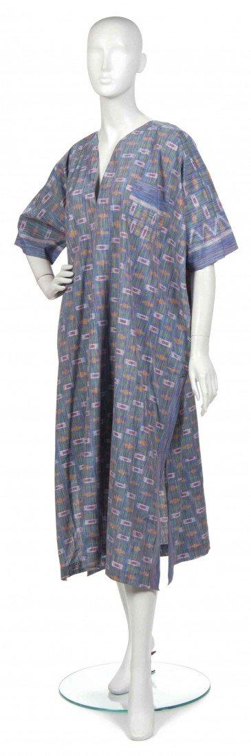 425: A Joan Vass Multicolor Cotton Ikat Kaftan.