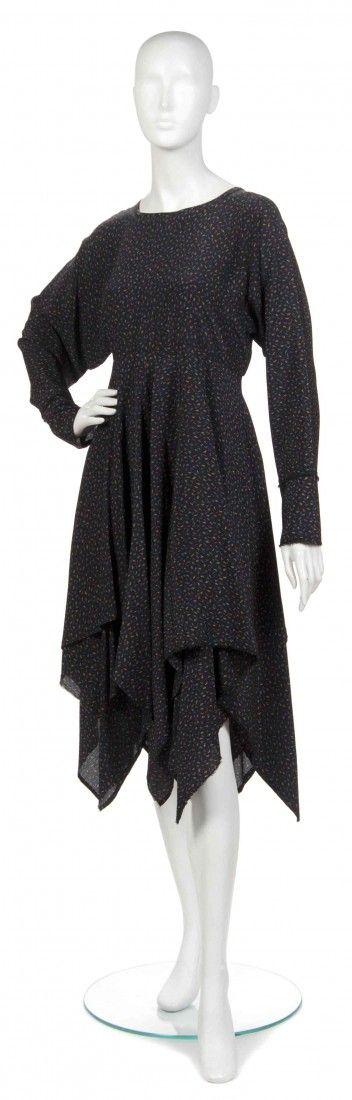 432: A Joan Vass Black Silk Dress,