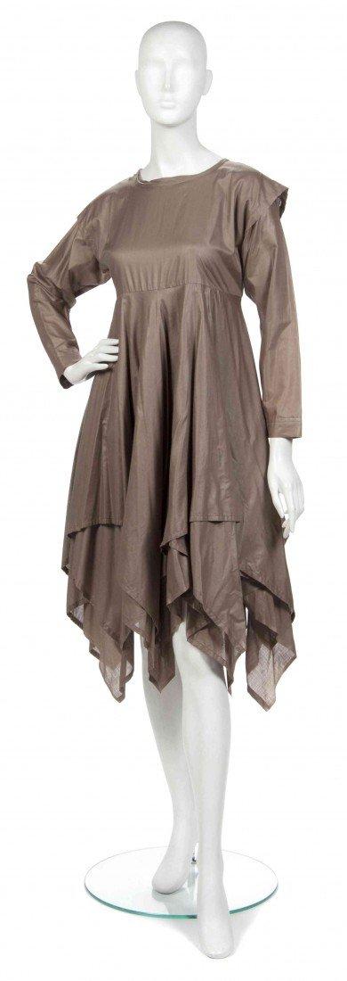 433: A Joan Vass Brown Cotton Dress,