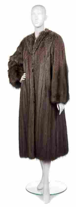 441: A Brown Fisher Fur Coat,