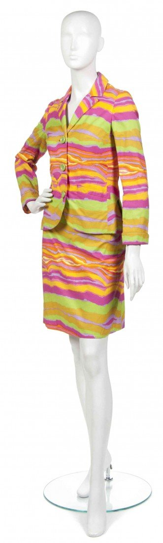 466: A Rudi Gernreich Multicolor Skirt Suit.