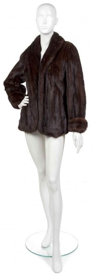 469: A Brown Mink Coat.