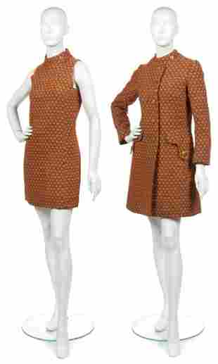 471: An Orange and Grey Tweed Dress,