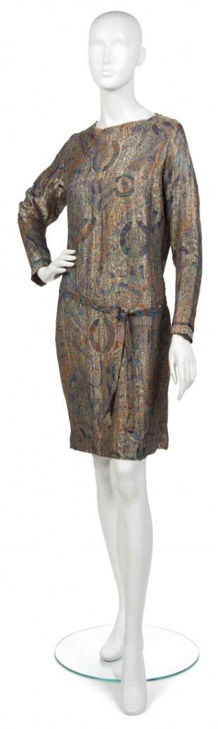 472: A Paisley Brocade Dress.