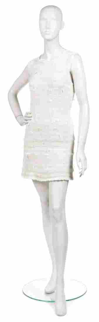 486: A Joan Vass Off-White and Cream Sweater Dress.