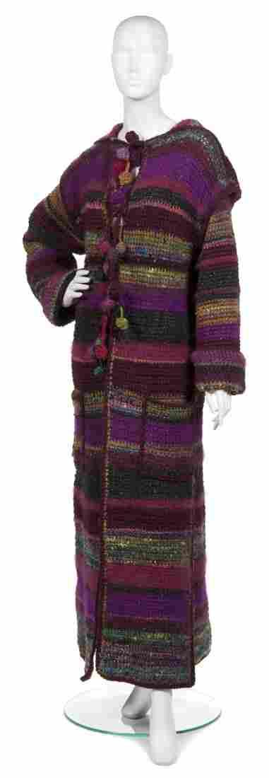 A Joan Vass Full Length Sweater Coat.