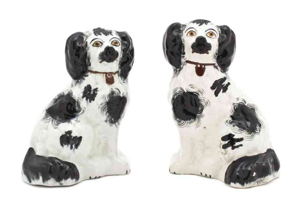 6: A Pair of Staffordshire Dogs, Height 8 inches.