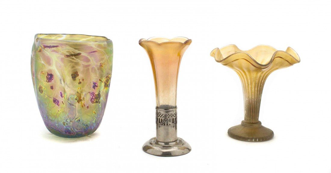 11: An American Art Glass Vase, A. Allison, Height 6 1/