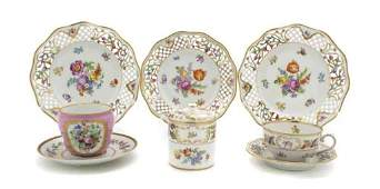 48: A Collection of Continental Porcelain Articles, Dia