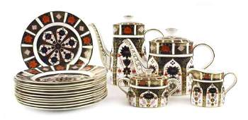 96: A Royal Crown Derby Porcelain Tea and Coffee Servic