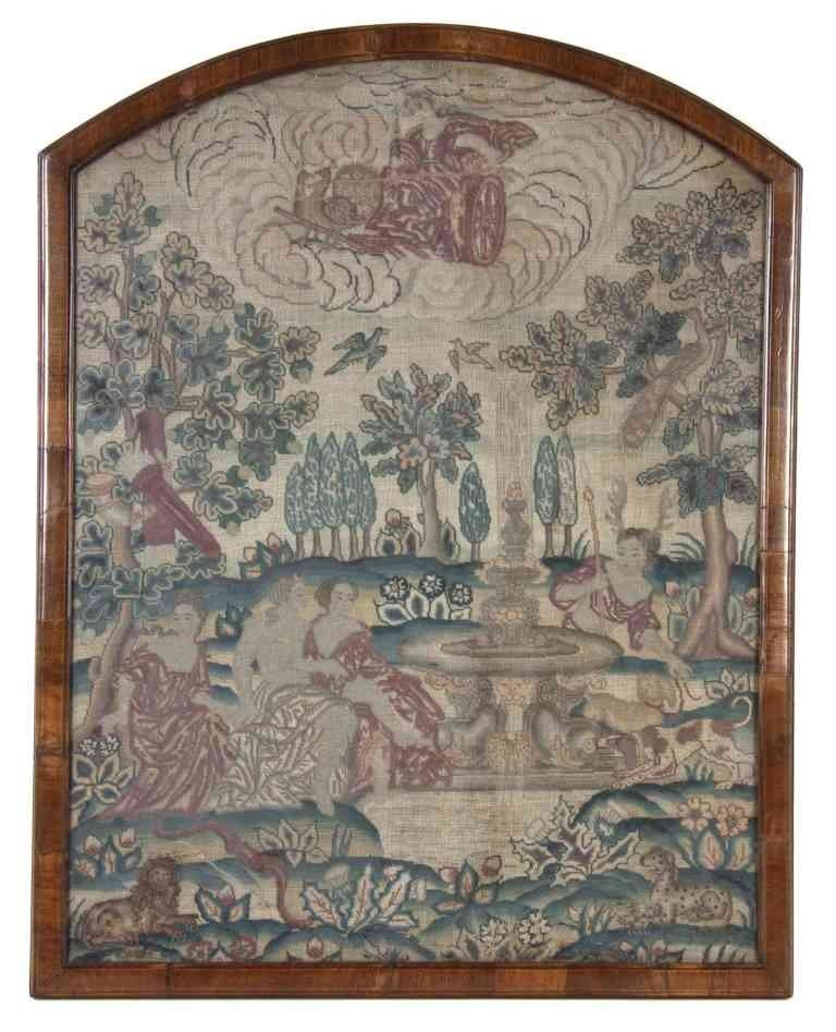17: A George II Needlework Picture, Height 27 x width 2