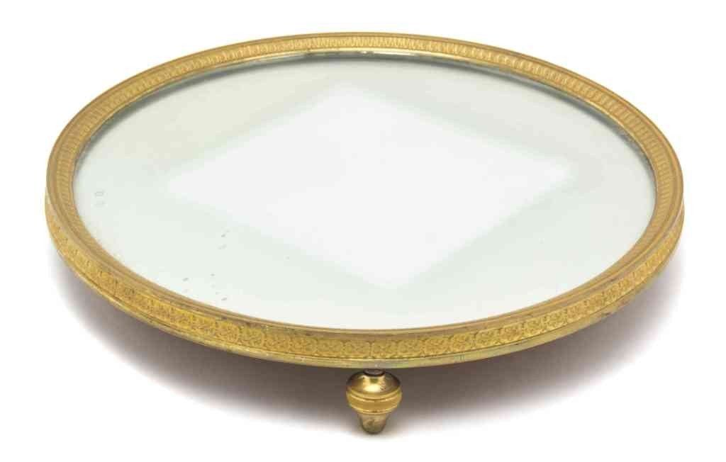 263: An Empire Style Bronze and Mirrored Plateau, Diame