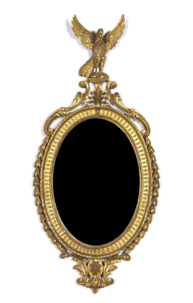 599: An American Federal Style Giltwood Mirror, Height