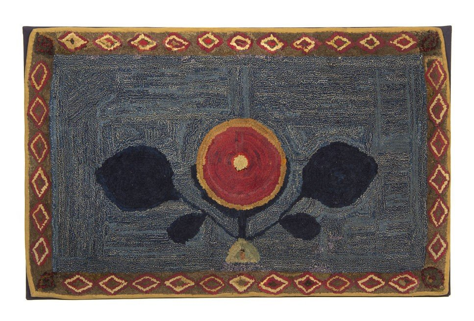608: An American Hooked Rug, 3 feet 9 inches x 2 feet 5
