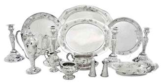 694: A Collection of American Art Nouveau Sterling Silv