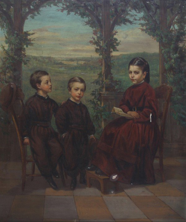 9: Continental School, 19th century, Untitled- Three Ch