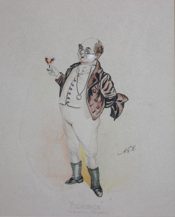 17: Five Drawings of Characters from Charles Dickens, ,