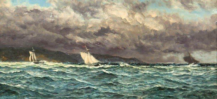 4: John Brett, (British, 1831-1902), Yachting Off the C