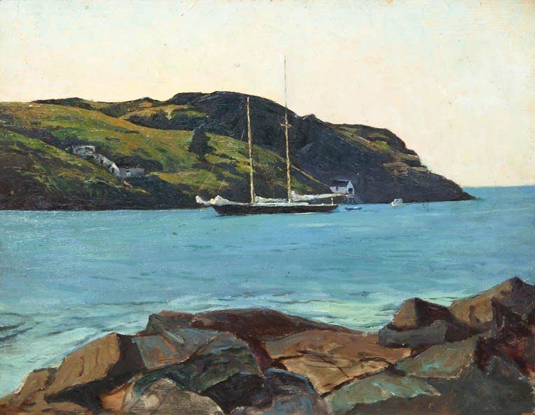 5: George G. Adomeit, (American, 1879-1967), Schooner,