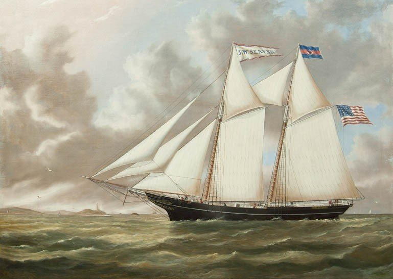 6: Joseph B. Smith, (American, 1798-1876), Schooner J.W