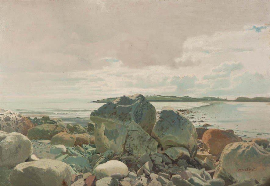 7: William Bradford, (American, 1823-1892), Rocky Shore