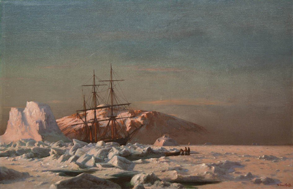 8: William Bradford, (American, 1823-1892), The Steamer